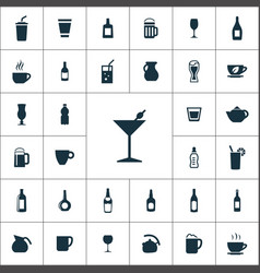 drinks icons universal set for web and ui vector image