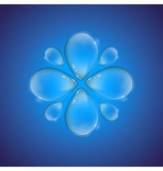 Drop flower vector