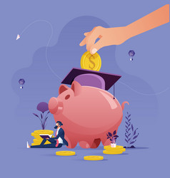 Education savings and investment concept vector