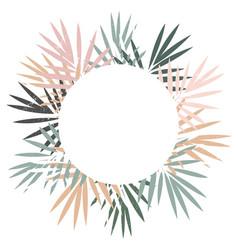 elegant and stylish round pastel frame tropical vector image