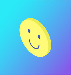 emoji facial expression icon smiling face vector image