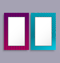 empty frames two banners of purple and blue color vector image