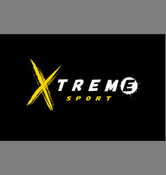extreme sport logo emblem in grunge style on a vector image
