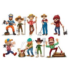Farmers and Lumberjacks vector image
