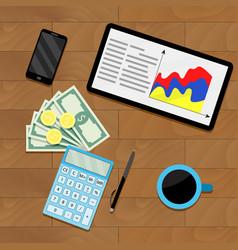 Finance process planning budget vector