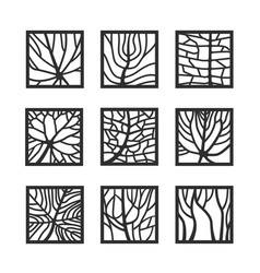 frames with leaves texture vector image
