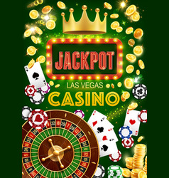 gambling game casino jackpot and fortune wheel vector image