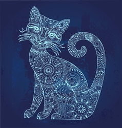 Glowing cat vector