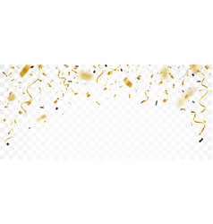 Gold confetti isolated on transparent background vector