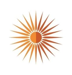 Gold sun icon weather design graphic vector