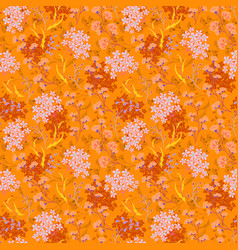 Hand drawn floral pattern seamless texture vector