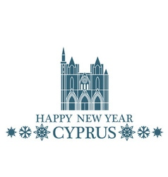 Happy New Year Cyprus vector image