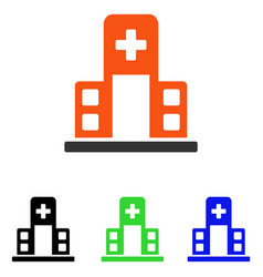 Hospital building flat icon vector