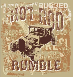 Hot rod rumble vector