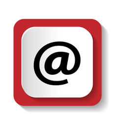icon mail address vector image