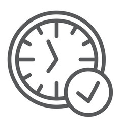in-time line icon watch and countdown clock sign vector image
