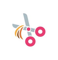 Isolated pet scissor icon flat design vector