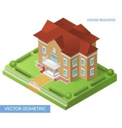 Isometric house and building vector image