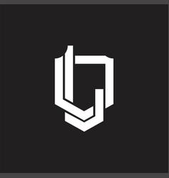 Ld logo monogram design template vector