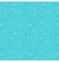 Mint Line SEO Seamless Pattern vector