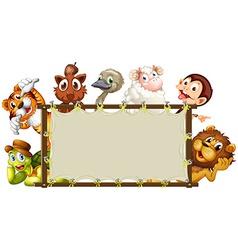 Mixed animals banner vector