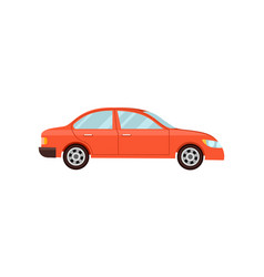 modern red car isolated vector image