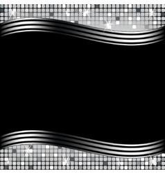 mosaic background black vector image