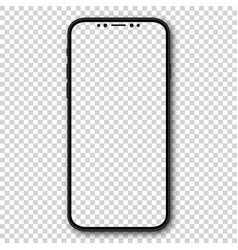 new design smartphone with blank screen vector image