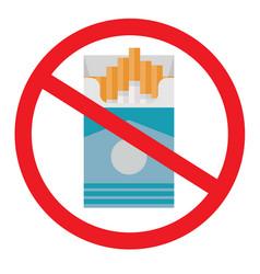 no smoking flat icon vector image