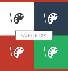 Palette icon white background vector