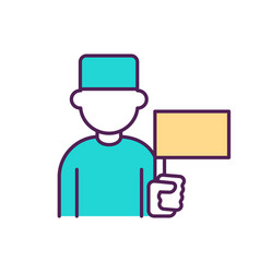 Physician from government hospital rgb color icon vector