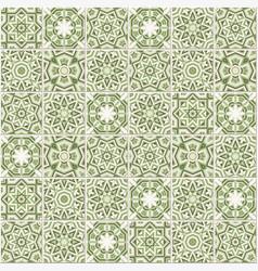 portuguese floor tiles design seamless azulejo vector image