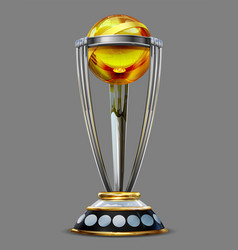 realistic cricket world cup trophy on plain vector image