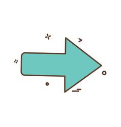 right icon design vector image