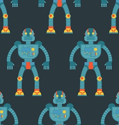 Robot seamless pattern Background of technological vector