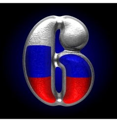 Russian metal figure 6 vector