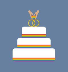 Same sex wedding cake vector
