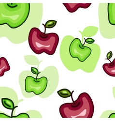 Seamless Pattern with Abstract Apples vector image