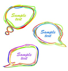 set abstract speech bubbles vector image