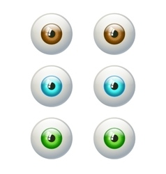 Set of colorful eyes Brown blue green eye vector image