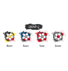 set of national football team group g vector image