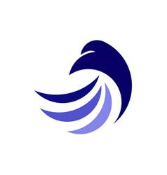 simple eagle logo vector image