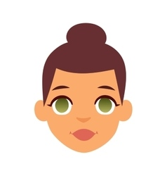 Smiling woman vector