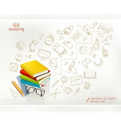 Studying and education infographics vector image vector image