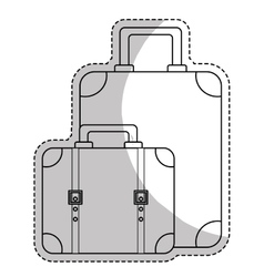 Suitcases luggage icon image vector