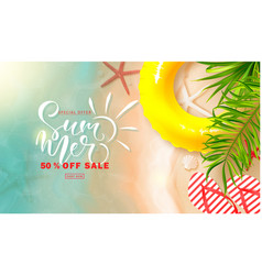 summer sale bannerbackground with sea water vector image