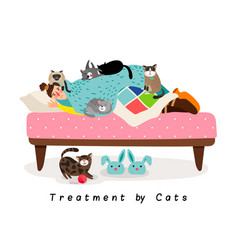 treatment by cats vector image