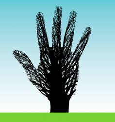 tree hand vector image