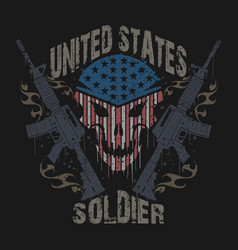 united states soldier army veterans logo symbol vector image