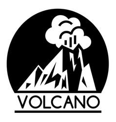 Volcano lava logo simple style vector